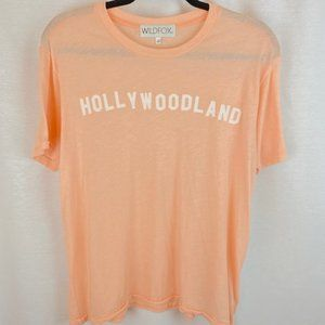 NWOT Wild Fox Logo Graphic Blush T Hollywoodland